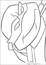 忍者神龟填色图1