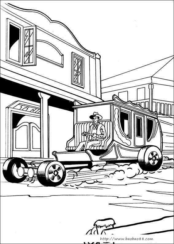 卧龙 交通工具简笔画 拖拉机
