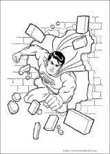 超人填色图片[9p]_卡通动漫简笔画(涂色图片)