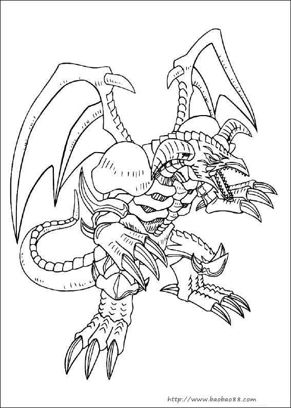 游戏王dm简笔画[10p]_卡通动漫简笔画(涂色图片)