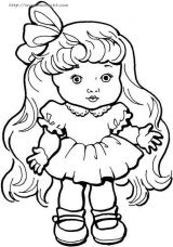 女孩简笔画