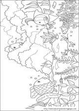 彩虹鱼填色图[10p]_卡通动漫简笔画(涂色图片)