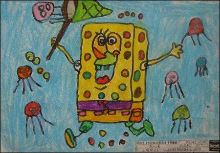 幼儿园颜料作画-幼儿大班画画作品5幅