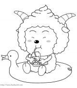 喜羊羊简笔画6