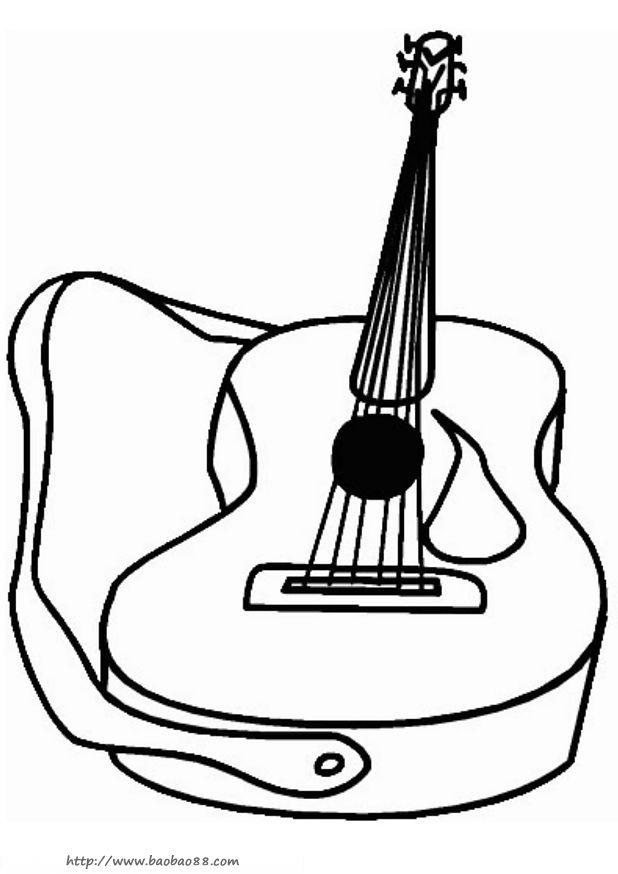 各种乐器简笔画10图片