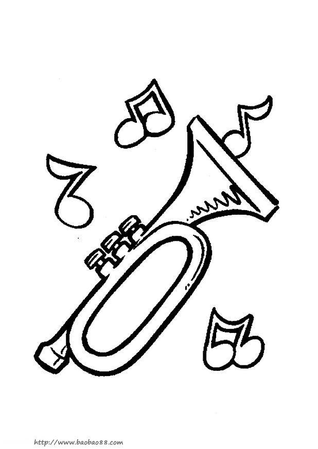各种乐器简笔画17
