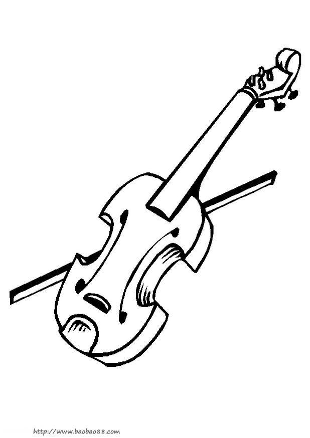 各种乐器简笔画19