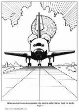 航天飞机简笔画3