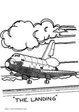 航天飞机简笔画5