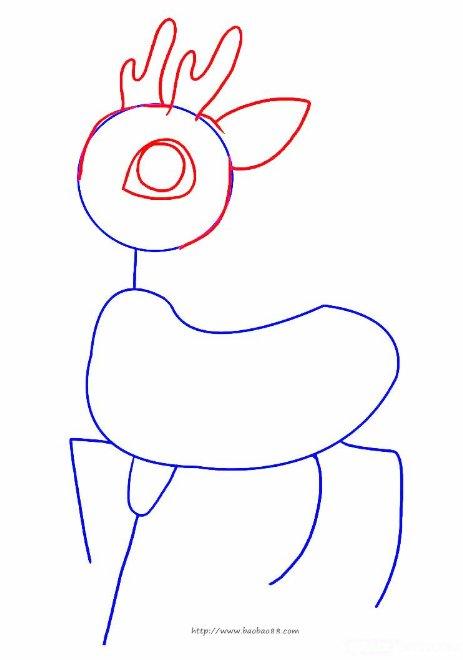 学画小鹿[7p]_学习绘画简笔画(涂色图片)