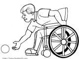 残疾人简笔画1