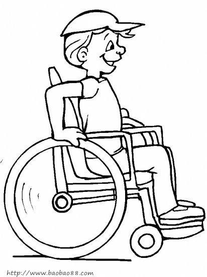 残疾人简笔画27