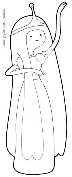 教你画美丽公主[6p]_学习绘画简笔画(涂色图片)-芭比公主涂色简笔画