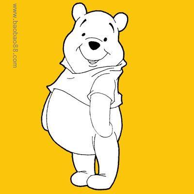 可爱小熊简笔画图片大全 卡通的可爱小熊涂色图片