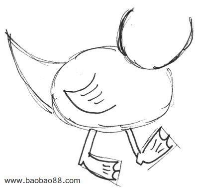学画卡通小鸭[8p]_学习绘画简笔画(涂色图片)