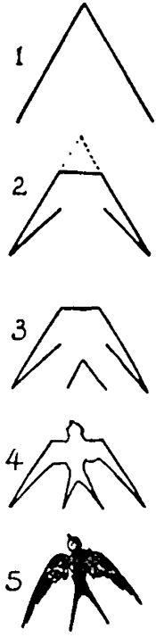 幼儿画画小燕子简笔画,小燕子的简笔画法_小燕子简笔画步骤,小燕子简