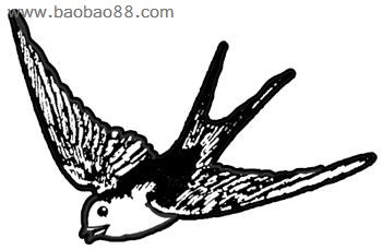 小燕子的简笔画画法,小燕子简笔画图片大全,小燕子简笔画,小高清图片