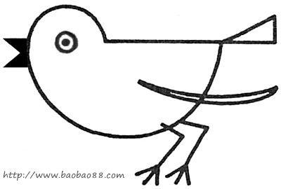 画简单形状的小鸟[7p]