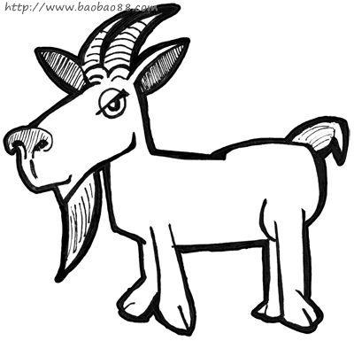 学画山羊[10p]_学习绘画简笔画(涂色图片)