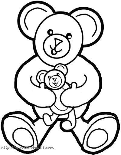 学画泰迪小熊[20p]_学习绘画简笔画(涂色图片)
