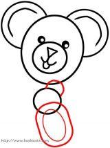 学画泰迪小熊6