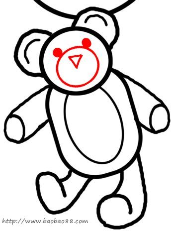 小熊可爱简笔画