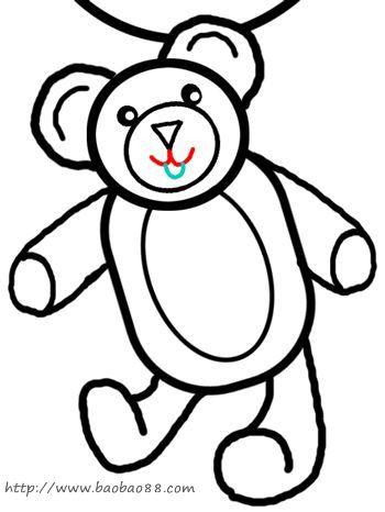 熊[20p]_学习绘画 简笔画 (涂色图片)-冬眠小熊简笔画图片