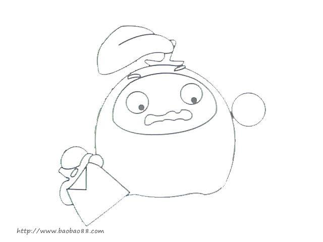 果宝特攻简笔画[15p]_卡通动漫简笔画(涂色图片)-魔法骑士简笔画