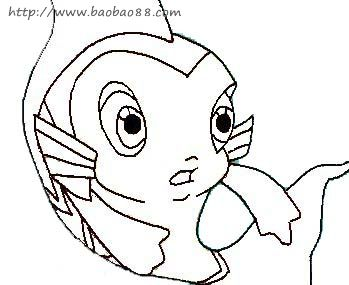小鲤鱼历险记简笔画7