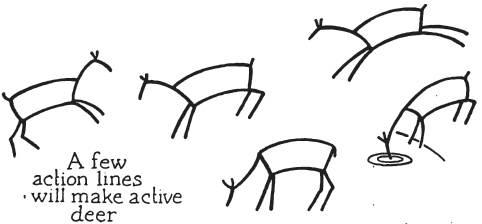 学画鹿[7p]_学习绘画简笔画(涂色图片)