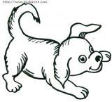 学画可爱小狗