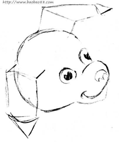学画可爱小狗[12p]_学习绘画 简笔画 (涂色图片)-可爱小狗简笔画