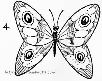 儿童简笔画蝴蝶的画法