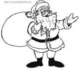 画送礼物的圣诞老人1