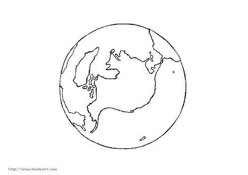 地球日简笔画[6p]_节日简笔画(涂色图片)