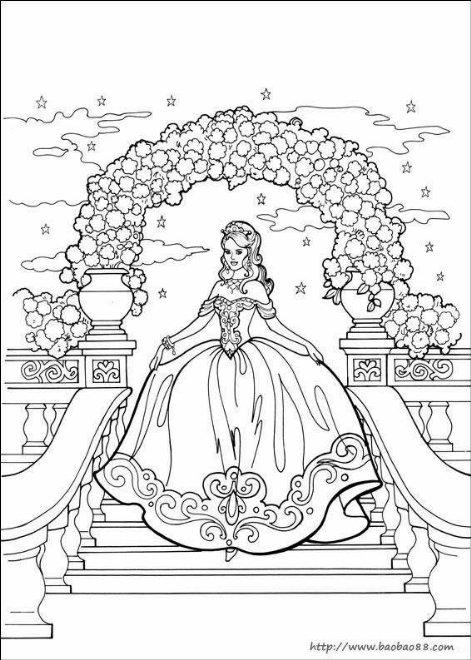 可爱公主卡通简笔画