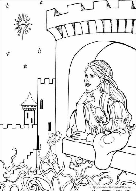 - Coloriage chateau de princesse ...
