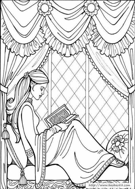 画公主的简笔画步骤