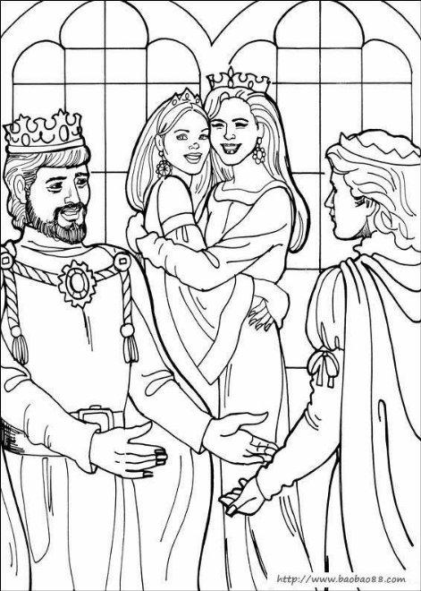 利奥诺拉公主涂色图[26p]_卡通动漫简笔画(涂色图片)
