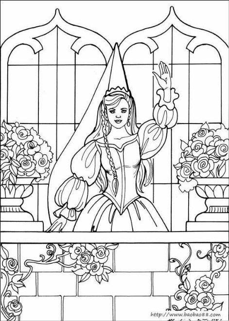 儿童简笔画可爱公主.