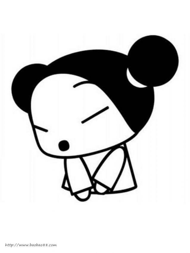 ucca(中国娃娃)简笔画[12p]-整理东西简笔画 简笔画 小蚂蚁搬东