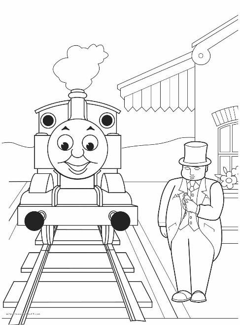 托马斯火车简笔画21