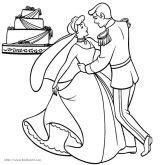 舞蹈公主涂色图1