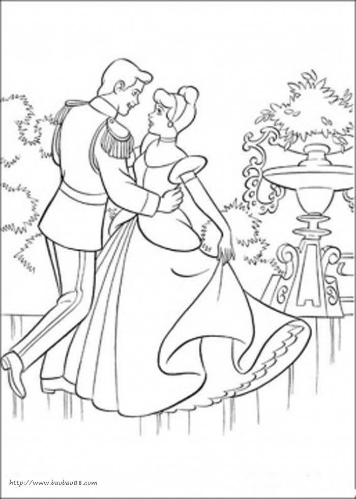 舞蹈公主涂色图[12p]_人物简笔画(涂色图片)