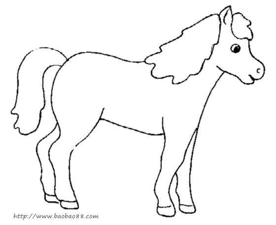 卡通小动物简笔画图片下载