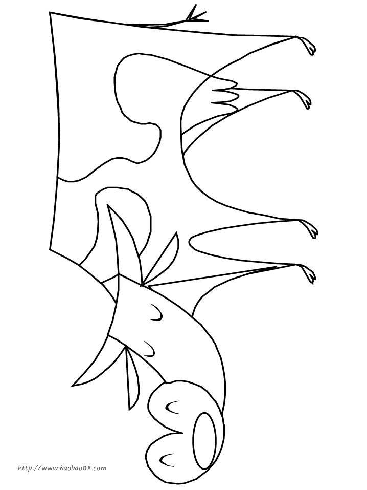 宝宝吧为小朋友们提供的动物简笔画 小动物吃饭填色