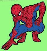 学画蜘蛛侠