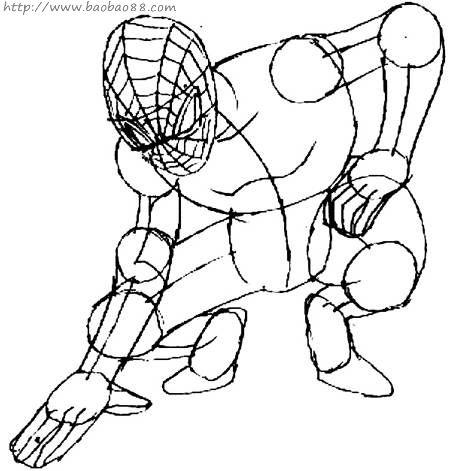 蜘蛛侠简笔画