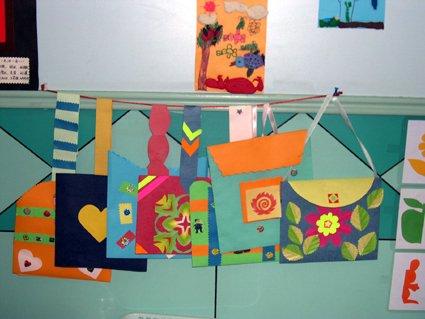 幼儿教师手工制作:漂亮的袋子