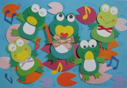 小班儿童画简单-简介:《幼儿园墙饰:青蛙乐队》是【宝宝吧】为宝宝们准备的幼儿手